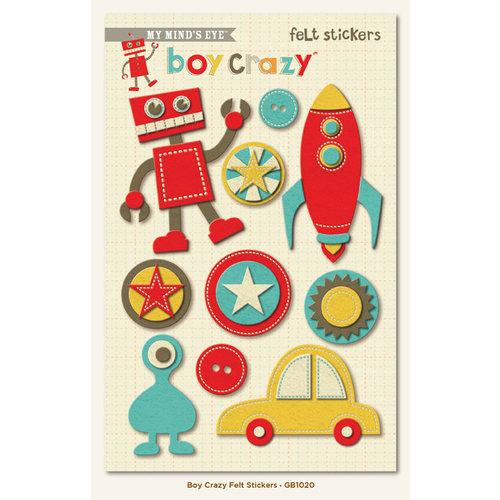 My Mind's Eye - Boy Crazy Collection - Felt Stickers