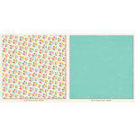 My Minds Eye - My Girl Collection - 12 x 12 Double Sided Paper - Pinwheel