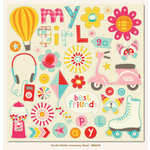 My Minds Eye - My Girl Collection - 12 x 12 Cardstock Stickers