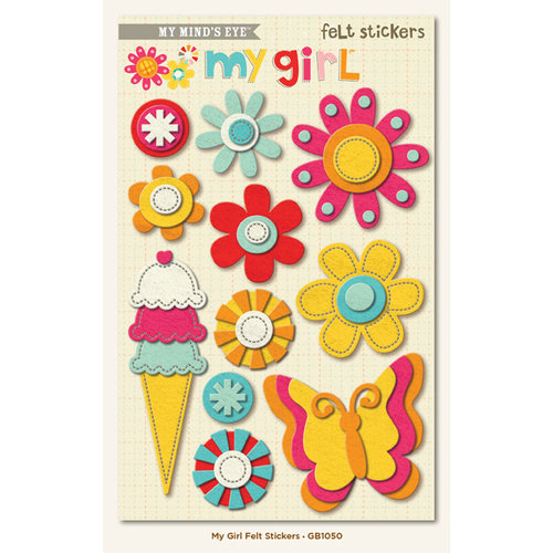 My Minds Eye - My Girl Collection - Felt Stickers