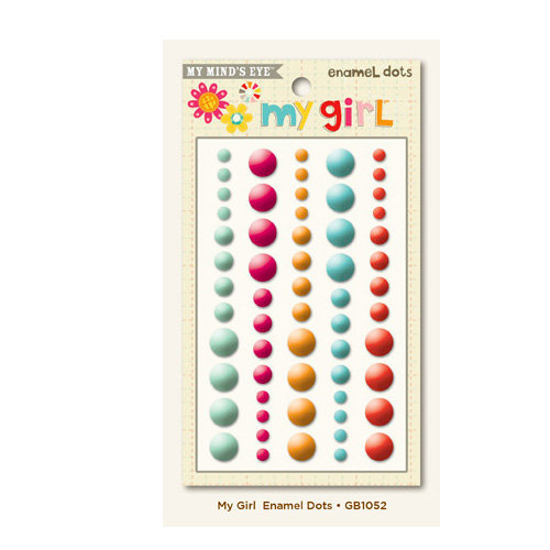 My Mind's Eye - My Girl Collection - Enamel Dots