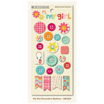 My Mind's Eye - My Girl Collection - Decorative Buttons