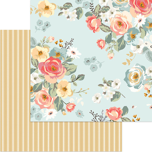 My Minds Eye - Gingham Gardens Collection - 12 x 12 Double Sided Paper - Amanda