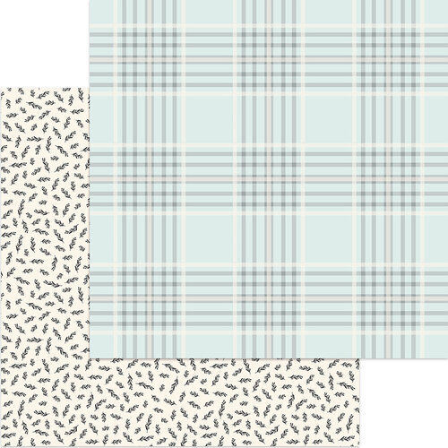 My Minds Eye - Gingham Gardens Collection - 12 x 12 Double Sided Paper - Georgia
