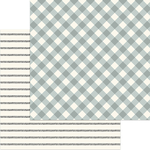 My Minds Eye - Gingham Gardens Collection - 12 x 12 Double Sided Paper - Charlotte