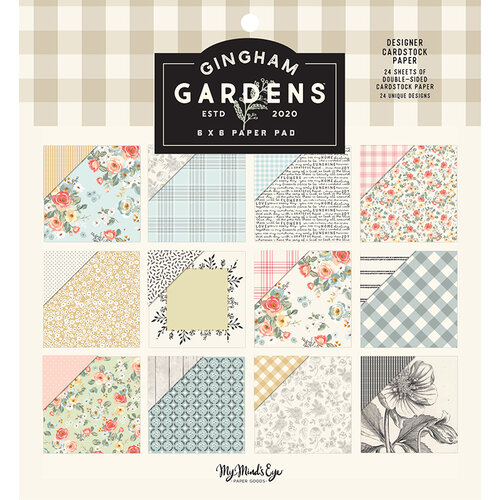My Minds Eye - Gingham Gardens Collection - 6 x 6 Paper Pad