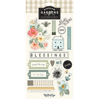 My Minds Eye - Gingham Gardens Collection - Chipboard Embellishments