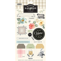 My Minds Eye - Gingham Gardens Collection - 6 x 12 Cardstock Sticker Sheet