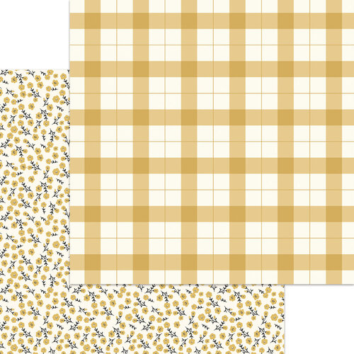 My Minds Eye - Gingham Foundry Collection - 12 x 12 Double Sided Paper - Cornflower