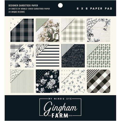 My Minds Eye - Gingham Farm Collection - 6 x 6 Paper Pad