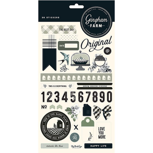 My Minds Eye - Gingham Farm Collection - Cardstock Stickers