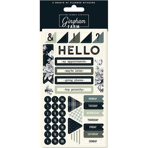 My Minds Eye - Gingham Farms Collection - Planner Sticker Set