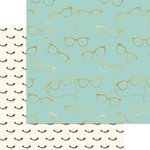 My Minds Eye - Gal Meets Glam Collection - 12 x 12 Double Sided Paper with Foil Accents - Girls In Glasses