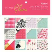 My Minds Eye - Gal Meets Glam Collection - 6 x 6 Paper Pad with Foil Accents