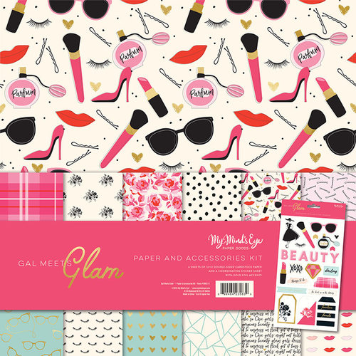My Minds Eye - Gal Meets Glam Collection - 12 x 12 Collection Pack with Foil Accents