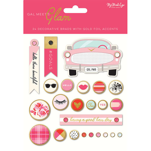 My Minds Eye - Gal Meets Glam Collection - Decorative Brads
