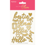 My Minds Eye - Gal Meets Glam Collection - Acrylic Stickers - Words