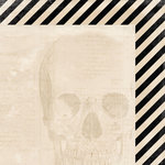 My Mind's Eye - Happy Haunting Collection - Halloween - 12 x 12 Double Sided Paper - Skull