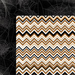 My Mind's Eye - Happy Haunting Collection - Halloween - 12 x 12 Double Sided Paper - Chevron