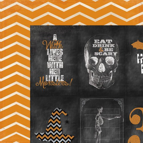 My Mind's Eye - Happy Haunting Collection - Halloween - 12 x 12 Double Sided Paper - Cards
