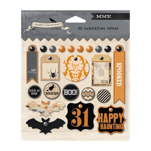My Mind's Eye - Happy Haunting Collection - Halloween - Decorative Brads