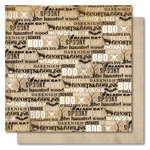 My Mind's Eye - Haunted Collection - Halloween - 12 x 12 Double Sided Flocked Kraft Paper - Spooky Words, CLEARANCE