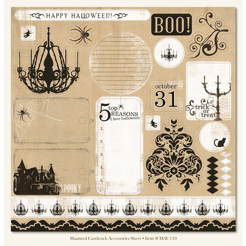 My Mind's Eye - Haunted Collection - Halloween - 12 x 12 Die Cut Paper - Haunted, CLEARANCE