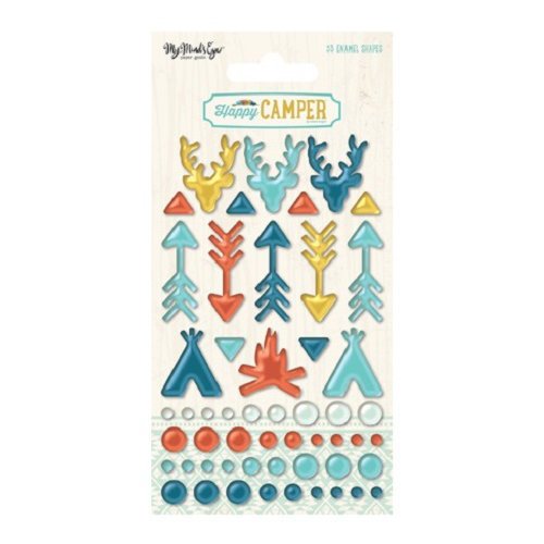 My Minds Eye - Happy Camper Collection - Enamel Shapes