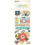 My Minds Eye - Happy Camper Collection - Cardstock Stickers - Alphabet and Word