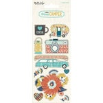 My Mind's Eye - Happy Camper Collection - Cardstock Stickers - Alphabet and Word