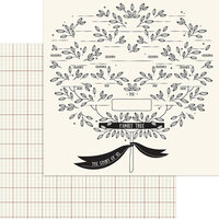 My Minds Eye - My Heritage Collection - 12 x 12 Double Sided Paper - Family Tree