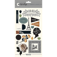 My Minds Eye - My Heritage Collection - Chipboard Stickers