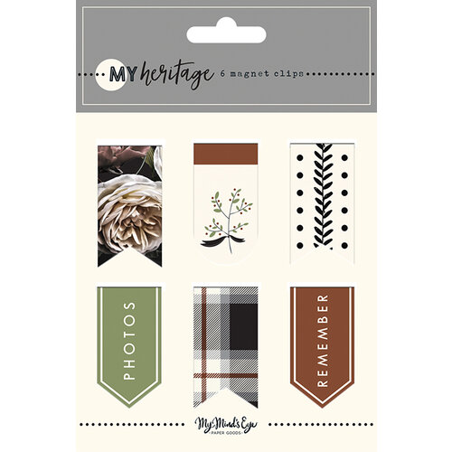 My Minds Eye - My Heritage Collection - Magnetic Clips