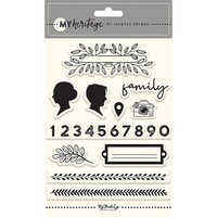 My Minds Eye - My Heritage Collection - Clear Acrylic Stamps