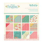 My Mind's Eye - Hello Gorgeous Collection - 6 x 6 Glittered Paper Pad