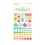 My Mind's Eye - Hello Gorgeous Collection - Enamel Shapes