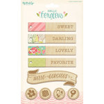 My Mind's Eye - Hello Gorgeous Collection - Wood Veneer Tags