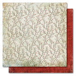 My Mind's Eye - Holly Jolly Collection - Christmas - 12 x 12 Double Sided Paper - Winter Branches