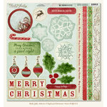 My Mind's Eye - Holly Jolly Collection - 12 x 12 Chipboard Stickers - Elements, CLEARANCE