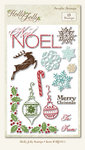 My Mind's Eye - Holly Jolly Collection - Clear Acrylic Stamps