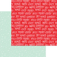 My Minds Eye - Christmas - Holly Jolly Collection - 12 x 12 Double Sided Paper - Comfort and Joy with Foil Accents