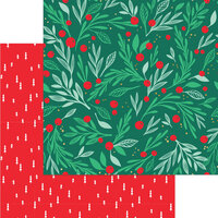 My Minds Eye - Christmas - Holly Jolly Collection - 12 x 12 Double Sided Paper - Deck the Halls with Foil Accents