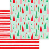 My Minds Eye - Christmas - Holly Jolly Collection - 12 x 12 Double Sided Paper - Festive Forest with Foil Accents