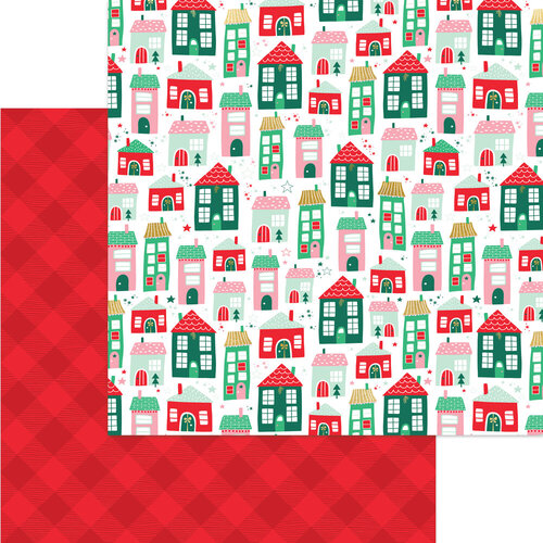 My Minds Eye - Christmas - Holly Jolly Collection - 12 x 12 Double Sided Paper - Up on the Housetop