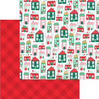 My Minds Eye - Christmas - Holly Jolly Collection - 12 x 12 Double Sided Paper - Up on the Housetop with Foil Accents
