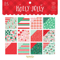 My Minds Eye - Christmas - Holly Jolly Collection - 6 x 6 Paper Pad with Foil Accents
