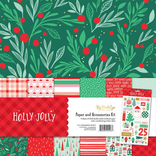 My Minds Eye - Christmas - Holly Jolly Collection - 12 x 12 Collection Pack with Foil Accents