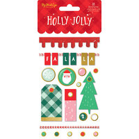 My Minds Eye - Christmas - Holly Jolly Collection - Decorative Brads with Foil Accents