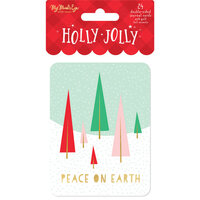 My Minds Eye - Christmas - Holly Jolly Collection - Journal Cards with Foil Accents