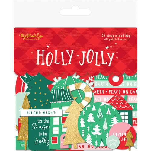 My Minds Eye - Christmas - Holly Jolly Collection - Mixed Bag with Foil Accents